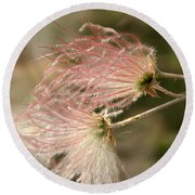 Whispering Pink Round Beach Towel
