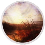 Whispering Shores By M.a Round Beach Towel