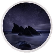 Whispers Of Eternity Round Beach Towel
