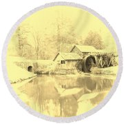 Whispers Of Mabry Mill Round Beach Towel
