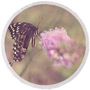 Whispers Of Nature Round Beach Towel