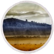 Whisps Of Velvet Rains... Round Beach Towel