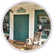 Whistle Stop Cafe Round Beach Towel