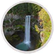 Whistler Bc Waterfall Round Beach Towel