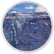 Whistler Glaciers Sc125-05 Round Beach Towel