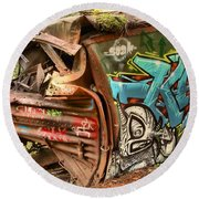 Whistler Train Wreck Stopping Point Round Beach Towel