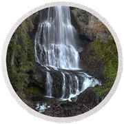 Whistler Waterfalls - Alexander Falls Round Beach Towel