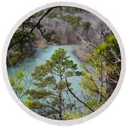Whistling Pines Round Beach Towel