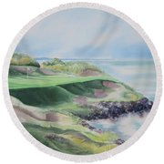 Whistling Straits 7th Hole Round Beach Towel