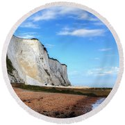 White Cliffs Of Dover Round Beach Towel