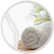 White Cotton Towel Round Beach Towel