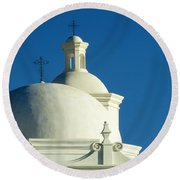 White Dove Of The Desert Round Beach Towel