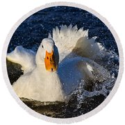 White Duck 1 Round Beach Towel