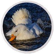 White Duck 3 Round Beach Towel