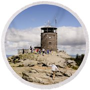 White Face Lookout Round Beach Towel