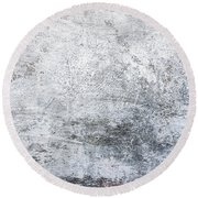White Grungy Cement Wall Round Beach Towel