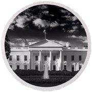 White House Sunrise B W Round Beach Towel