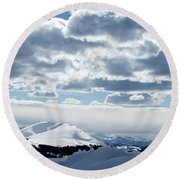 White Light Round Beach Towel