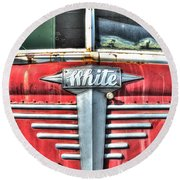 White Motor Company Highway Post Office U. S. Mail No 1 Round Beach Towel