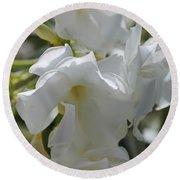 White Oleander Round Beach Towel