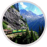 White Pass And Yukon Route Railway In Canada Round Beach Towel