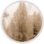 White Pines Round Beach Towel