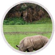 White Rhino 14 Round Beach Towel
