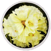 White Rhododendrons Round Beach Towel