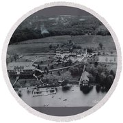 White Roe Lake Hotel-catskill Mountains Ny Round Beach Towel