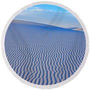 White Sand Patterns New Mexico Round Beach Towel by Bob Christopher