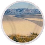 White Sands Morning #1 - New Mexico Round Beach Towel