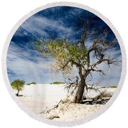 White Sands National Monument #1 Round Beach Towel