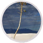 White Sands National Monument 2 White Sands New Mexico Round Beach Towel