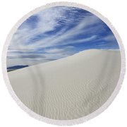 White Sands National Monument Big Dune Round Beach Towel by Bob Christopher