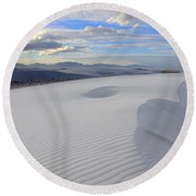 White Sands New Mexico Round Beach Towel