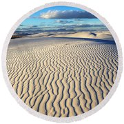 White Sands Of New Mexico Round Beach Towel