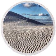 White Sands Patterns Round Beach Towel