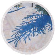 White Spruce Round Beach Towel