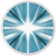 White Star Round Beach Towel