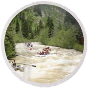 Animas River White Water Rafting The  Round Beach Towel