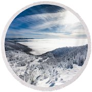Whitefish Inversion Round Beach Towel