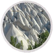 Whitewashed Rock From A Hot Air Balloon Round Beach Towel