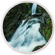 Waterfall - Whiting Downrush Round Beach Towel