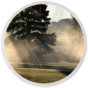 Whittle Springs Golf Course Round Beach Towel