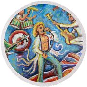 Who The F-ck Are You? Round Beach Towel