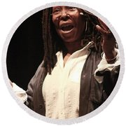 Whoopi Goldberg Round Beach Towel