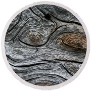 Whorls Of Wood Round Beach Towel