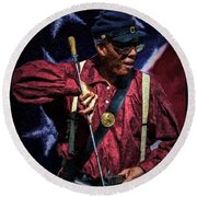 Wi Colored Infantry Sharpshooter - Oil Round Beach Towel