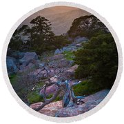 Wichita Mountains Sunset Round Beach Towel