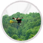 Wicked And Flying Round Beach Towel